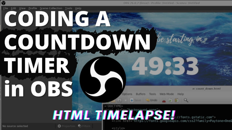 Watch Coding a Countdown Timer in OBS on YouTube