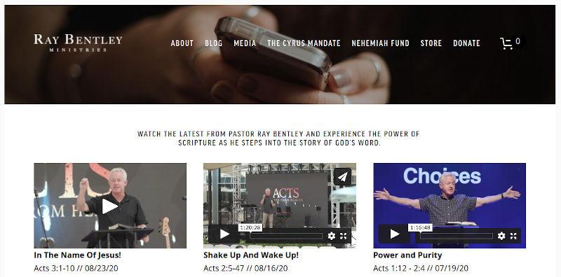 Ray Bentley's online sermon archive