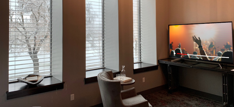 Stream to your nursery, overflow room, or lobby